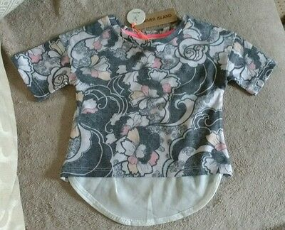River Island Mini Baby Girls Dressy T-Shirt Top,back Design. Age 3-6 Months.new