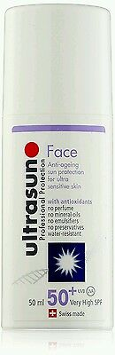 Ultrasun Face Anti-Ageing Sun Protection For Ultra Sensitive Skin SPF50+ 50ml