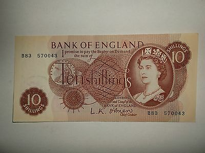 UK 10 shilling Note LK O'Brien 5 of 8 notes in connecting series