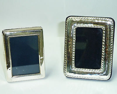 TWO Small Solid Silver Hallmarked Photo Frames (Never Used)