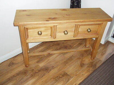 Solid Pine Hall/console Table