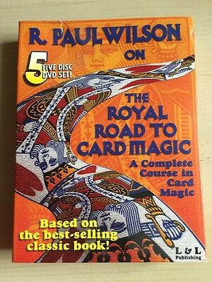 R.Paul Wilson on - The Royal Road to Card magic - 5 DVD Set