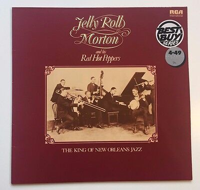 JELLY ROLL MORTON king of new orleans jazz VINYL LP - MONO / NL 89015 / 1981