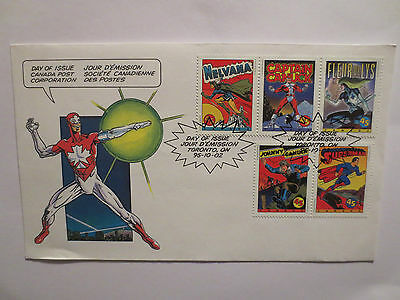 Comic Book Super Heroes 1995 Postal Cover With Stamps, Superman, Nelvana