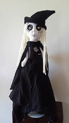 Willow The Witch,handmade  Gothic Rag Doll,  Ooak Doll, Horror Doll , Steampunk
