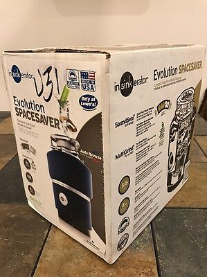 InSinkErator Evolution Spacesaver XP 5/8-HP Noise Insulated Garbage Disposal NEW