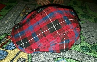 BABY BOYS Sz 0 red & blue checkered hat CUTE! COOL!