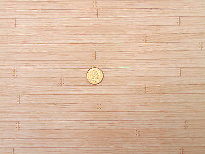 1:12 Dolls House Miniature Maple Floor Boards DIY A3 29.7cm x 43cm Accessory 505