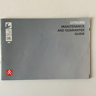 Citroen Service Book Genuine Service Book Used See Detail 2006 Onwards