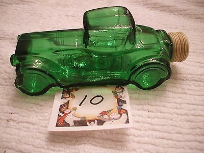 Vintage Avon Collectible Green Glass Sterling Six Car After Shave Bottle