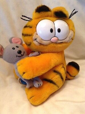 1985 Dakin Garfield Tags With Mouse Velcro Rare!