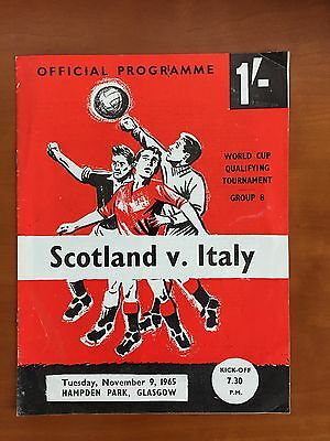 Scotland v Italy - World Cup Qualifier Programme -  November 1965