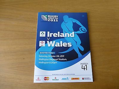 2011 Rugby World Cup programme QF Wales v Ireland match 41