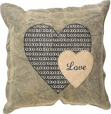 LOVE (xoxo's) Primitives by Kathy Valentine's Day Pillow