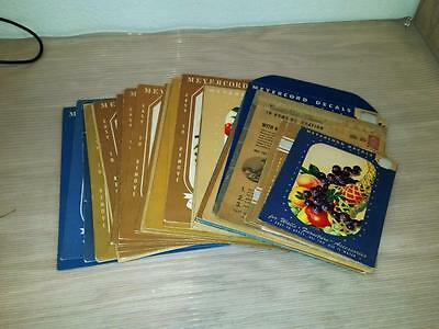 34qty MEYERCORD DECALS Vintage Home Decoration Fruit Flowers Chef Mexican