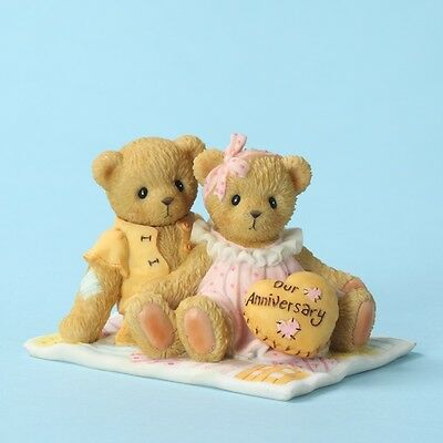 Cherished Teddies Wedding Our Anniversary Figurine, New in Box, 4025780