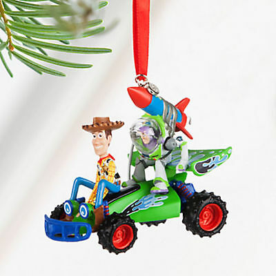 NEW 2016 Disney Store Toy Story Buzz & Woody Sketchbook Ornament NWT