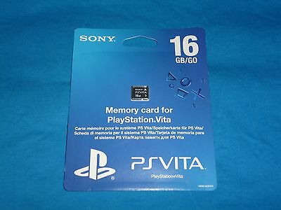 Official Sony Playstation Vita/PS Vita 16GB Memory Card. New Factory Sealed