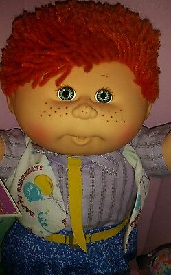 *SALE* - Cabbage Patch Birthday Boy, Red shag hair/freckles htf Birthday vest.