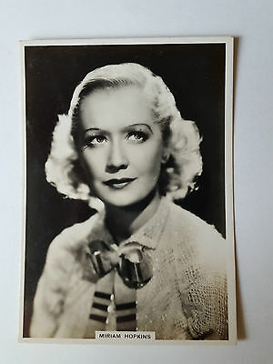 MODERN BEAUTIES 4th SERIES - #8 MIRIAM HOPKINS - 1937 - B.A.T. Cigarette Card