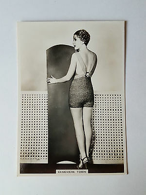 MODERN BEAUTIES 4th SERIES - #4 GENEVIEVE TOBIN - 1937 - B.A.T. Cigarette Card