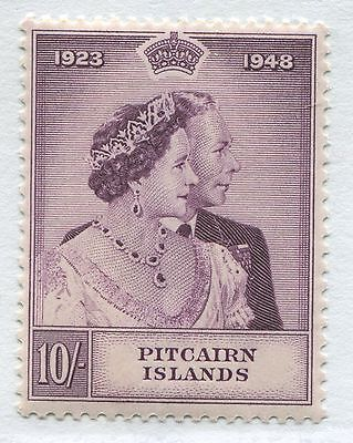 Pitcairn Island 1948 10/ KGVI Silver Wedding unmounted mint NH