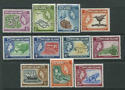 Pitcairn Island QEII 1957 set of 11 mint o.g. hinged