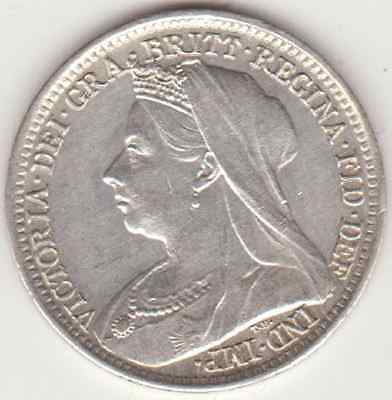 1899 Queen Victoria Maundy 3d (threepence) + 4d fourpence in exc condition