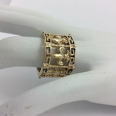 Wide 14K Yellow Gold Ring Size 6.5