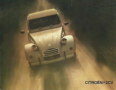 CITROEN 2 CV  catalogue publicitaire 1972