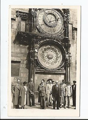 PRAGUE  Horloge Astronomique  Vieille Place  Animation rarissime 30 Juillet 1937