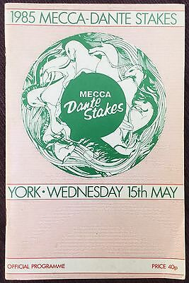 York Race Card 1985 DAMISTER & LES ARCS fight out the Mecca Dante Stakes