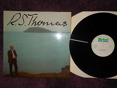 r s thomas reading his own poems nm near mint wales welsh arts council oriel lp