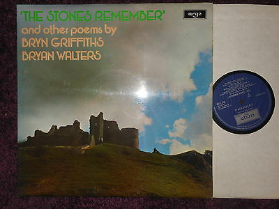 Bryn Griffiths Bryan Walters The Stones Remember argo lp plp 118 signed uk