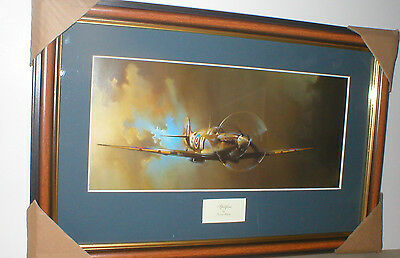 Supermarine SPITFIRE of 243 Sqn RAF Ouston 1941 AIRCRAFT PICTURE 17 x 12 ins