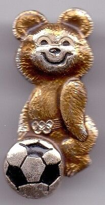 Russische Sowjet Pin Badge OLYMPICS 1980 SOCCER
