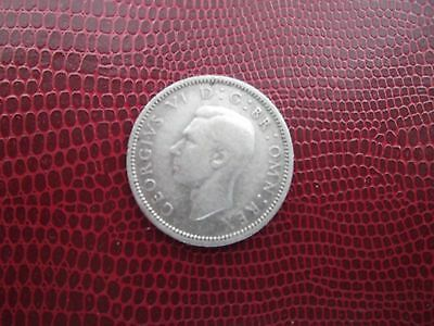 King George VI  Silver Sixpence 1945