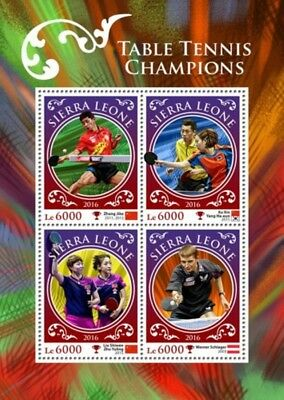 Sierra Leone - 2016 Table Tennis Champions - 4 Stamp Sheet - SRL16903a