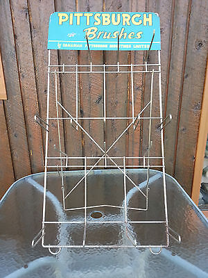Vintage PITTSBURGH BRUSHES Paint Displace Rack Sign