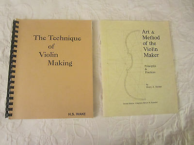 Lot of two LUTHIER, VIOLIN MAKER Books w/Plans, Patterns & Instructions  VGC