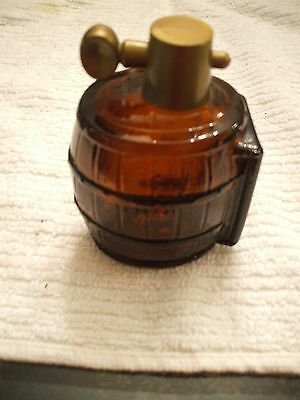 Vintage Avon Collectible Brown Glass Barrell After Shave Wild Country Bottle