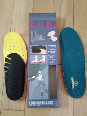 SIDAS CONFORMABLE MOULDABLE HIKING BOOT GOLF SHOE INSOLES, SIZE 8/9 - New