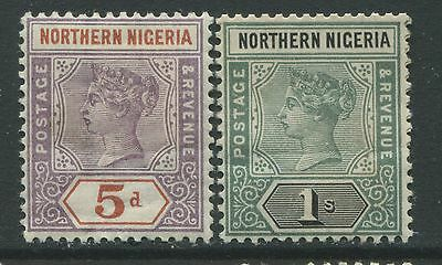 Northern Nigeria 1890 5d and 1/ mint o.g. hinged