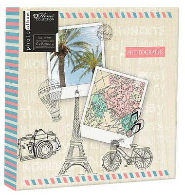 200 Slot Photo Album 4x6 Inch Travel Holiday Photograph Book Memories Chic Case