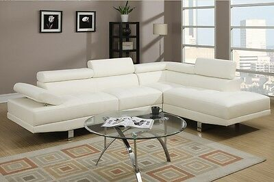 Living Room Modern Style Faux Leather Sectional Functional Armrest Sofa Set