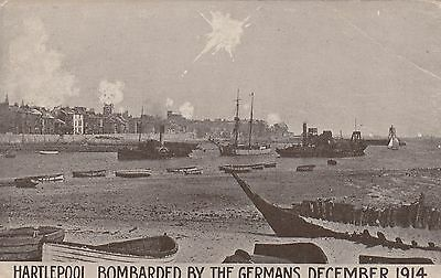 Hartlepool Bombarded by the Germans, Dec 1914, old postcard, unposted