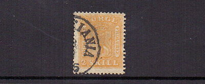 NORWAY 1863 2sk YELLOW SG12 USED CAT £225