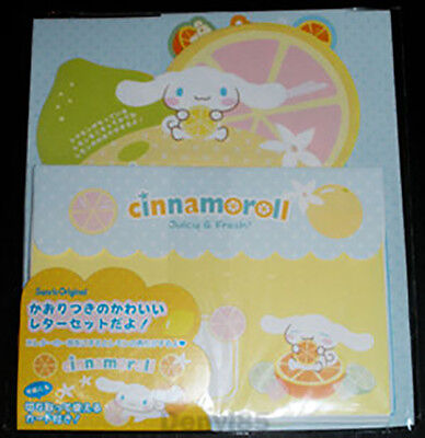 "VERY CUTE & HTF! 2009 Sanrio CINNAMOROLL ""Citrus"" Stationery Set from JAPAN! NEW"