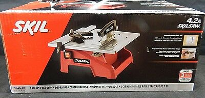 SKiL 3540-01 Portable Bench-Top 4.2-Amp 7in. Wet Tile Cutter Saw w/Diamond Blade