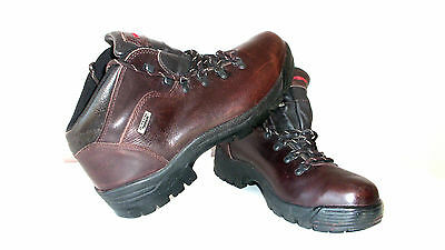 Demon D-Tech Fm076/1434 Genuine Leather Hiking Boots In Chocolate Brown Size 9.5